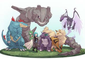 Team Pokemon by Sophingers