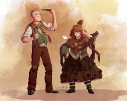Molly ArthurWeasley by Sophingers