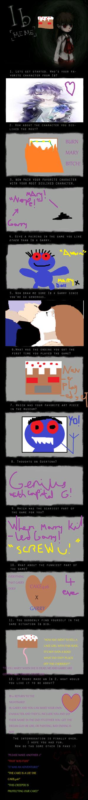Me Ib cake thing! ~Look what I found!~ by Nightmarecake4268
