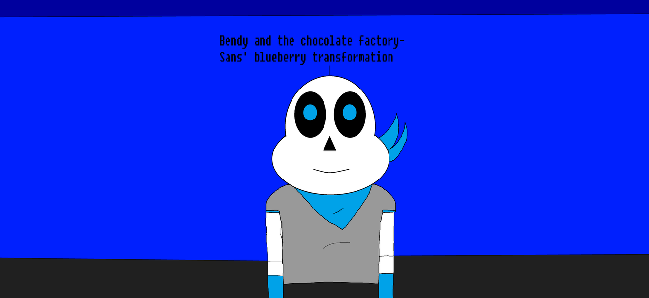 Bendy and the chocolate factory- Blueberry Sans by Nightmarecake4268