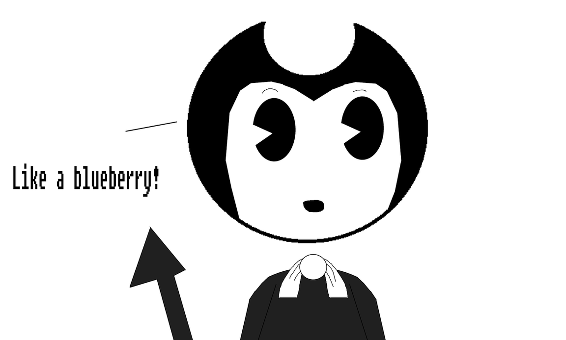 Bendy and the chocolate factory- Blueberry Sans 26 by Nightmarecake4268