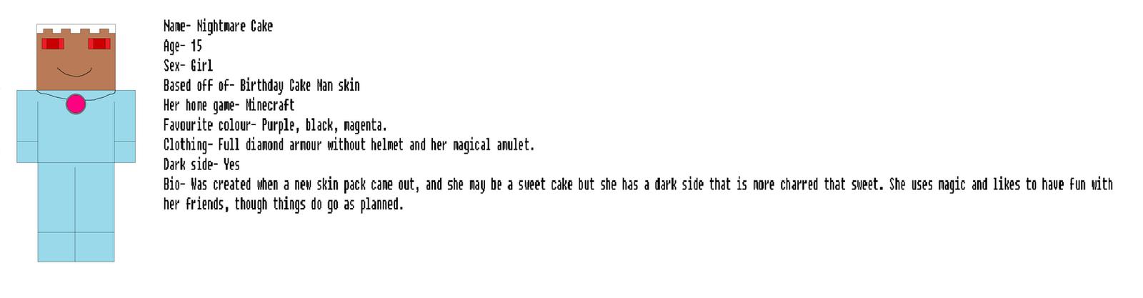Nightmare Cake reference sheet by Nightmarecake4268