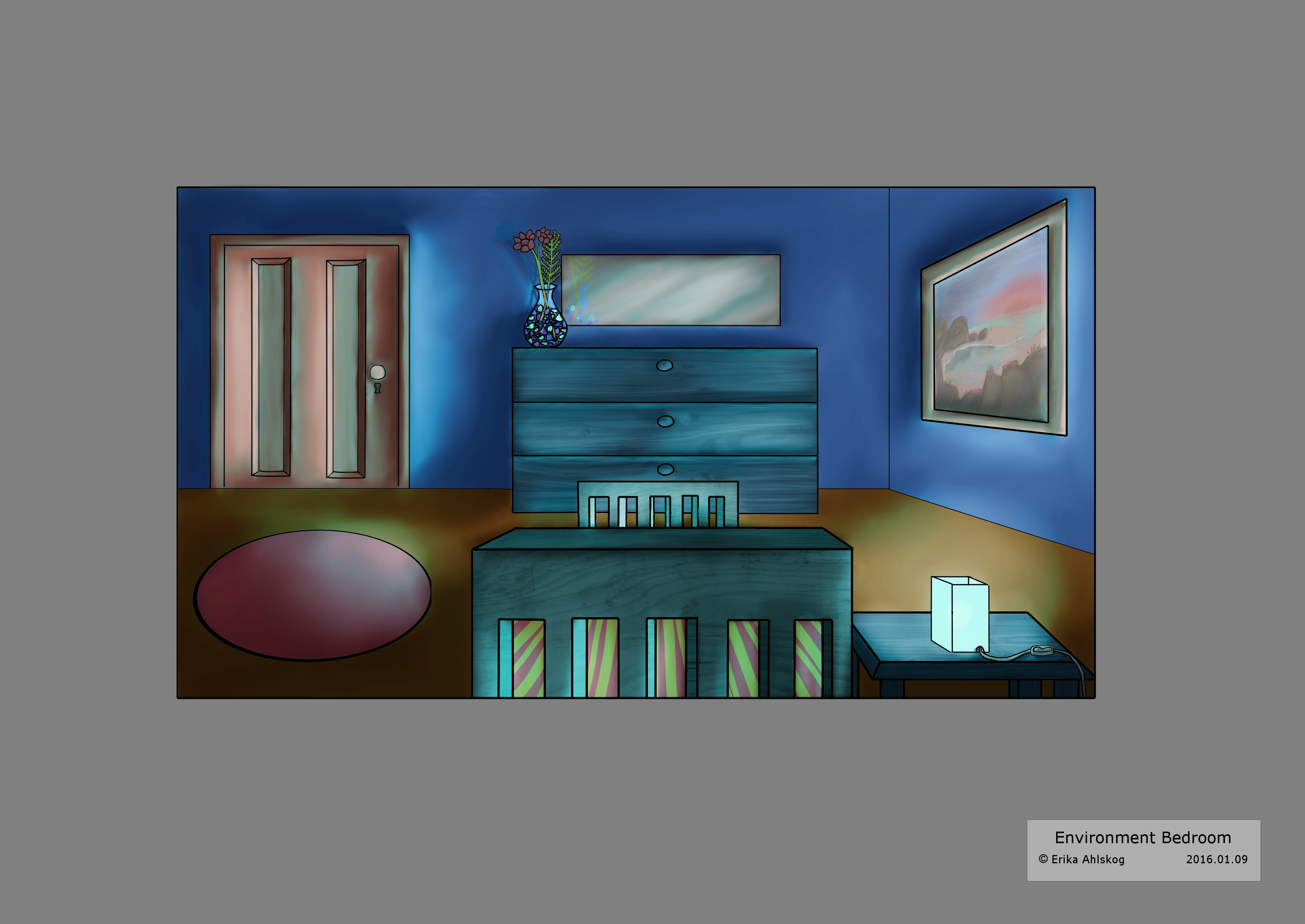 Bedroom template by seriiko on deviantart for Bedroom design template