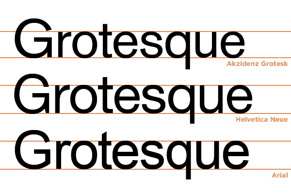 History of Type - Grotesque by MartinSilvertant