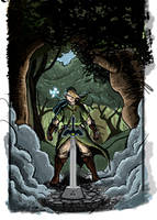 Link at the Master Sword by nbashowtimeonnbc