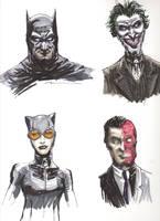 Bat Sketches by nbashowtimeonnbc