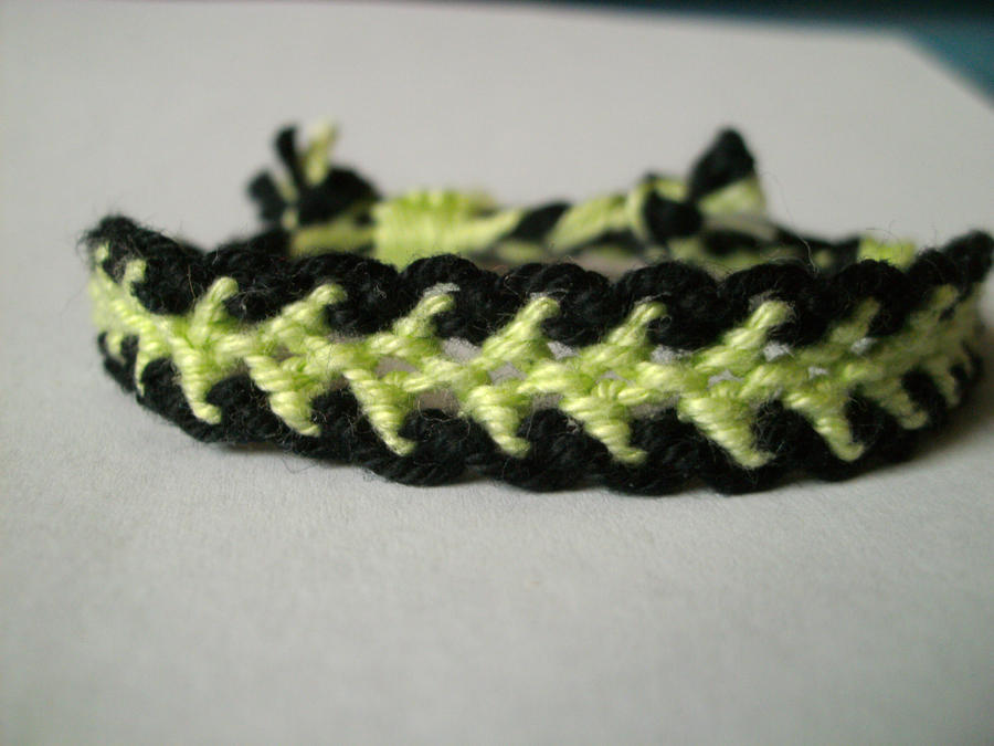 blackgreen dragon tail bracelet by positivelyrainbow on
