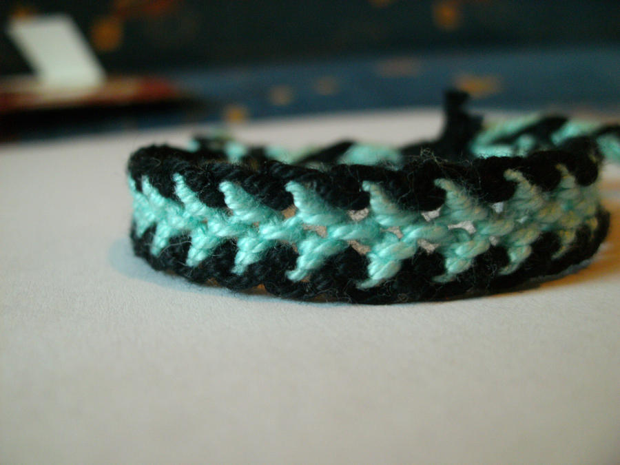 blueblack dragon tail bracelet by positivelyrainbow on