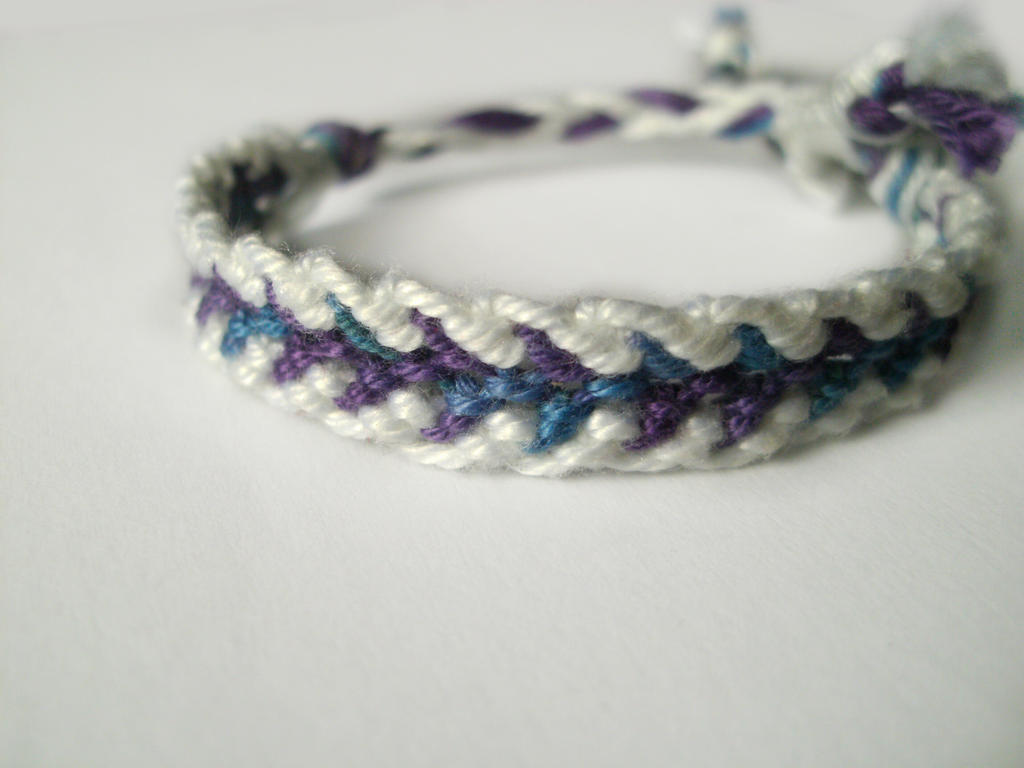 bluewhite dragon tail bracelet by positivelyrainbow on