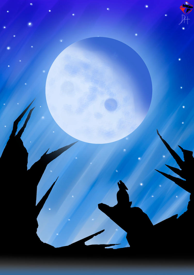 Lobo E Lua by nibiruswolf