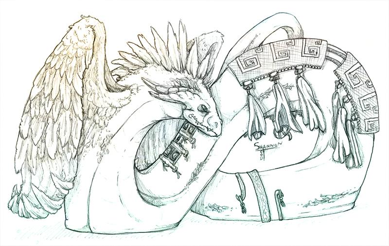 Quetzalcoatl Sketch by Varkorzy on DeviantArt