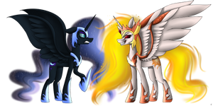 Nightmare Moon VS Daybreaker!