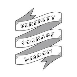 Serenity Prayer Ribbon Tattoo Design