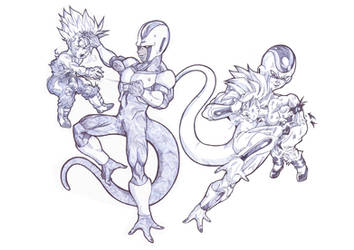 frieza with cooler by Blood-Splach