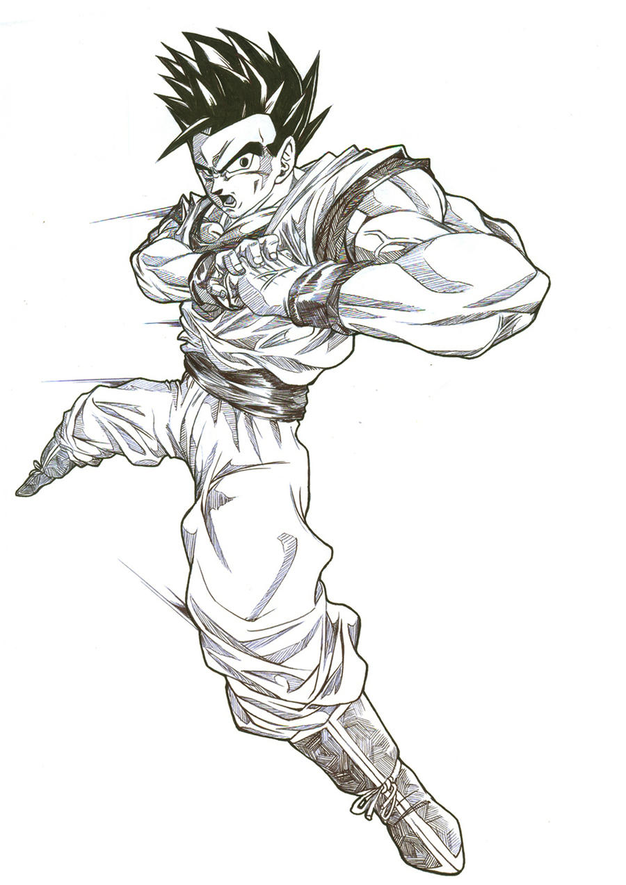 how to draw mystic gohan