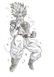 SSJ2 Son Goku by Blood-Splach