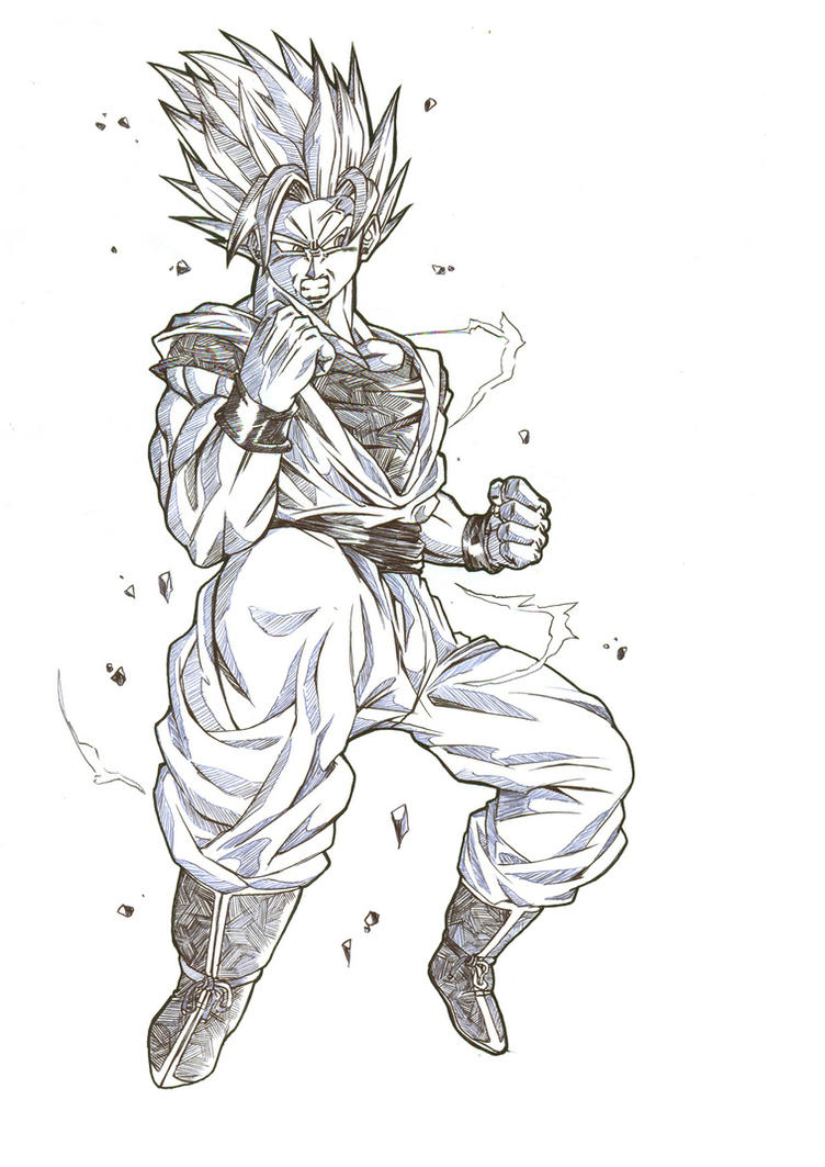Pin Goku Ssj5 Dragon Ball Af Added By Paintmaniac On 8308 100 Ms on