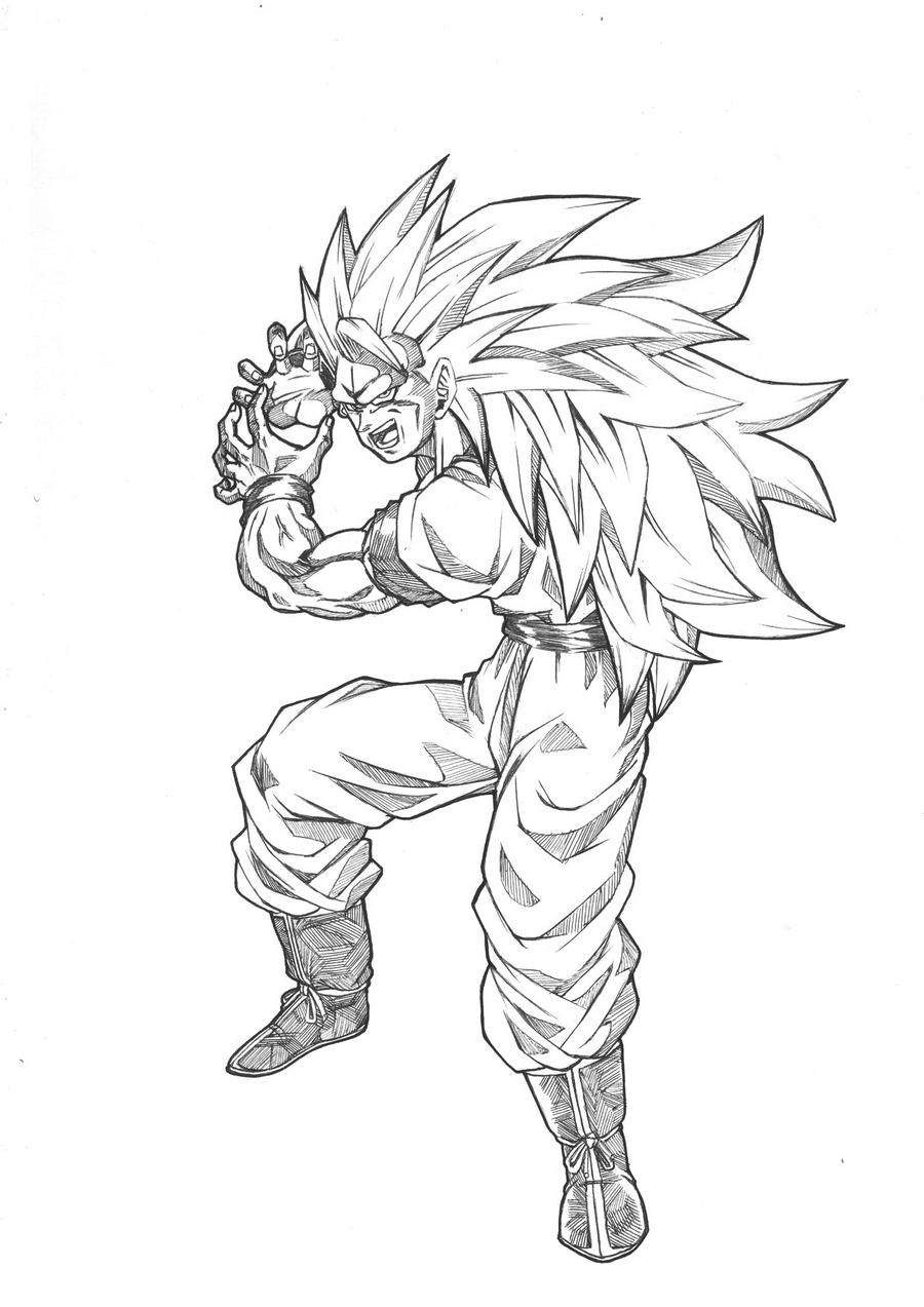 GOKU ssj3 KAMEhameha by Blood-Splach on DeviantArt