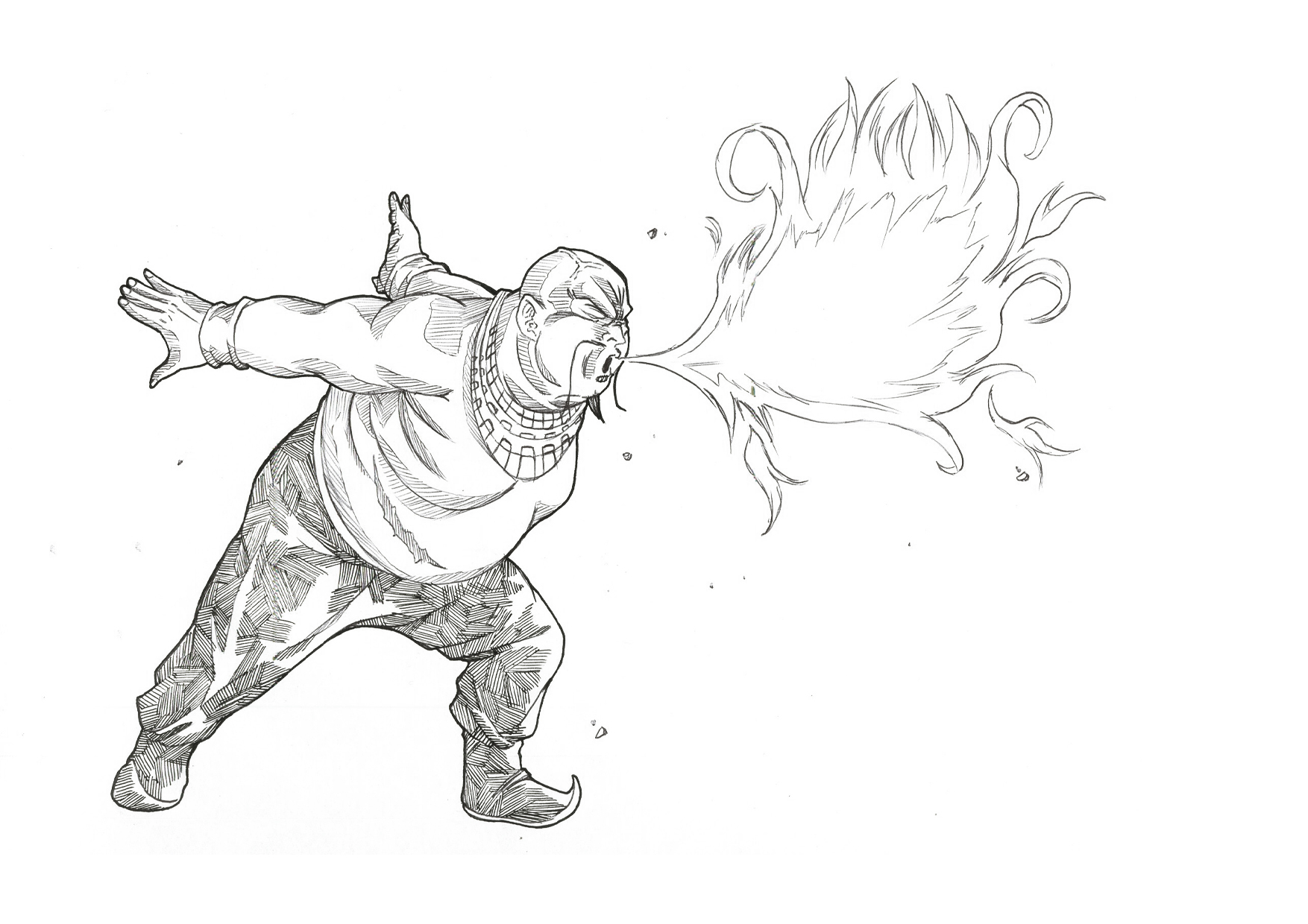 Karnov Breathing Fire By Bloodsplach Karnov Breathing Fire By Bloodsplach  How To Draw A Fire Breathing