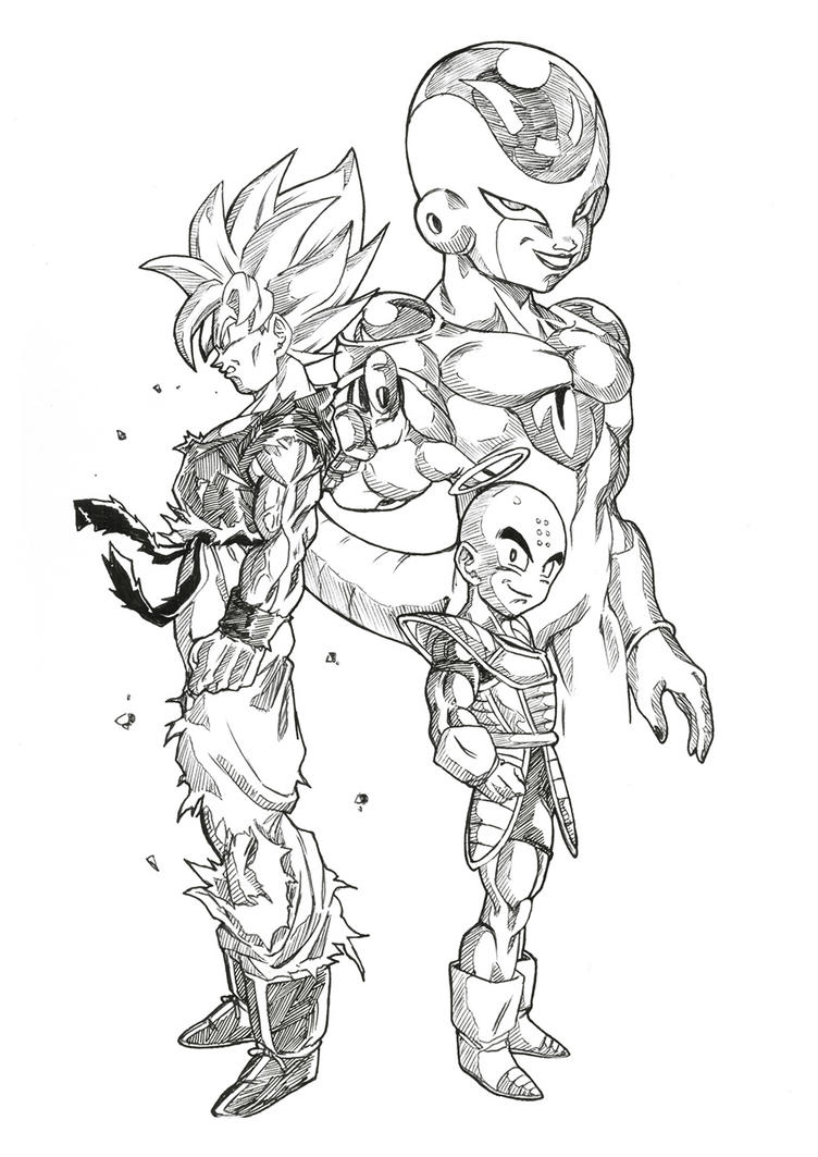 dragon ball z frieza coloring pages - goku vs frieza coloring pages coloring pages