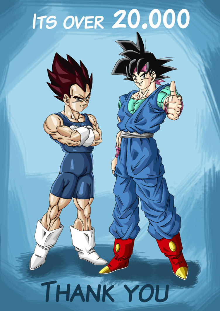 Goku jr and Vegeta jr thank you by bloodsplach