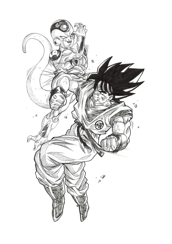 Goku vs frieza by bloodsplach on DeviantArt - photo#46
