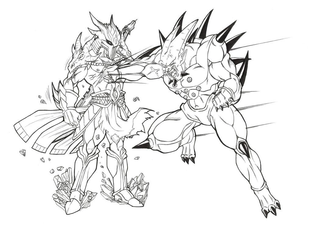 Mega Shenron Vs Sonic