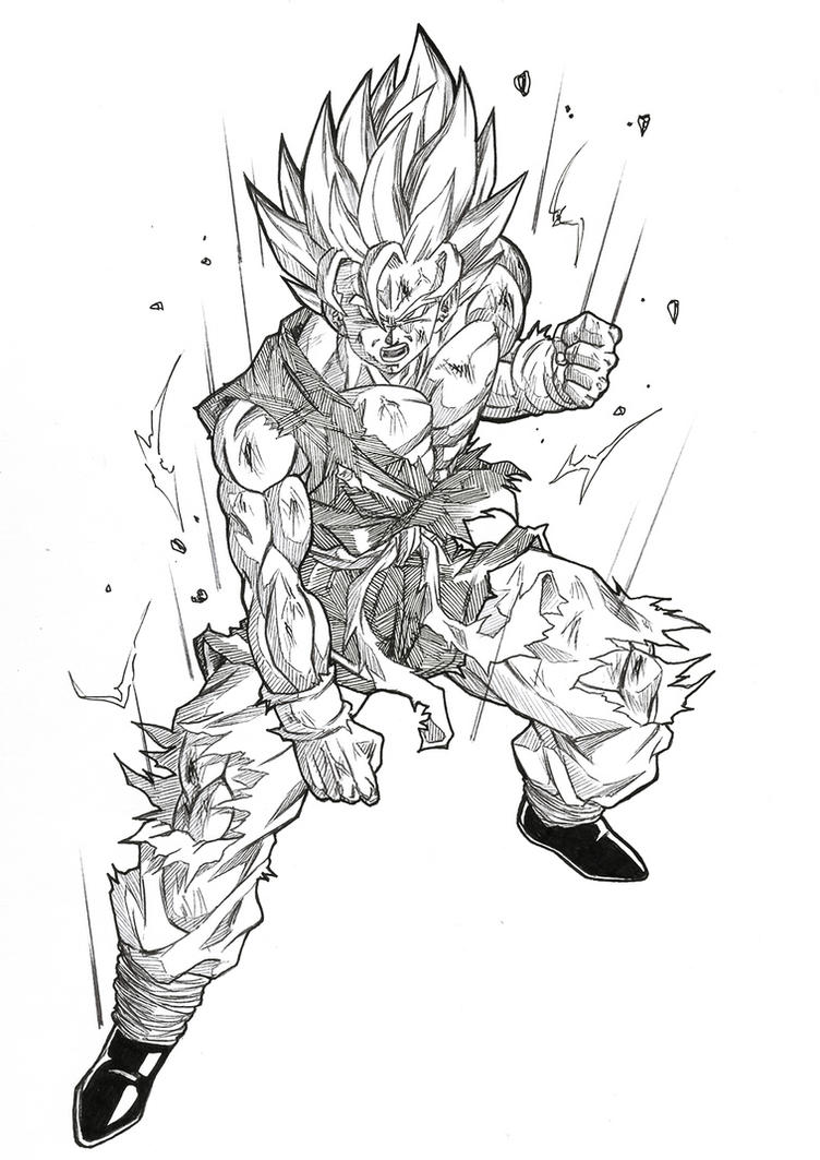 Goku GT Ssj2 by bloodsplach on DeviantArt