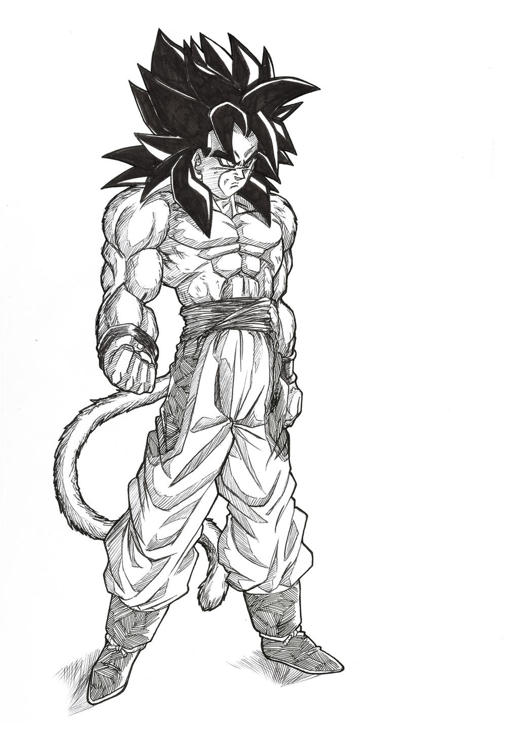 Pictures Of How To Draw Goku Ssj4 Full Body Rock Cafe