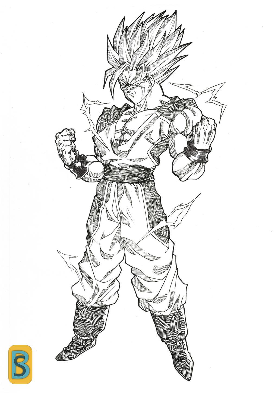 Goku DBNA ssj2 by bloodsplach
