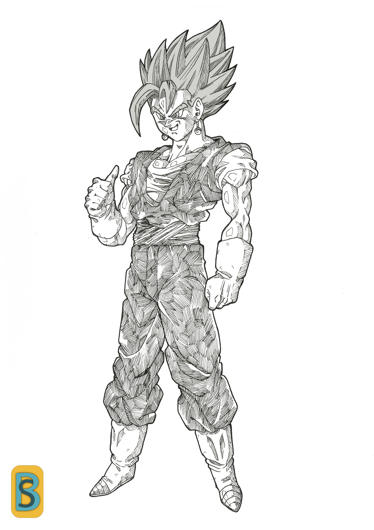 How To Draw Vegeta Easy Step by Step Drawing Guide by
