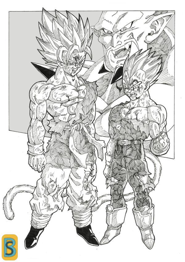 Goku and vegeta DBGT by bloodsplach