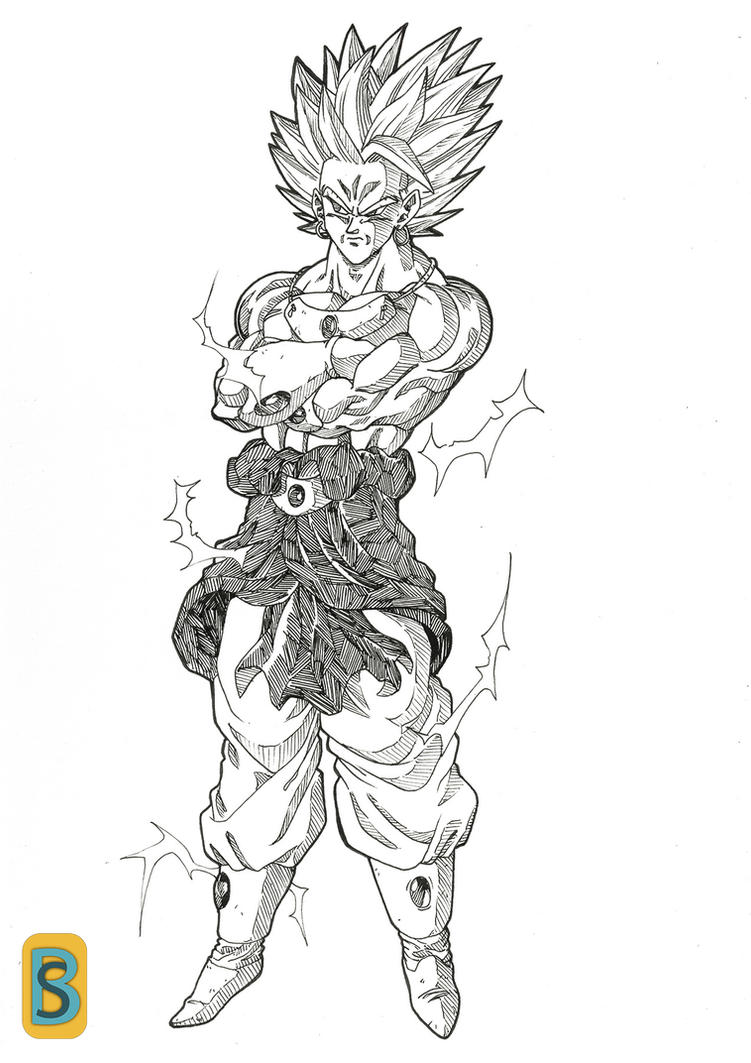 Broly ssj2 by bloodsplach