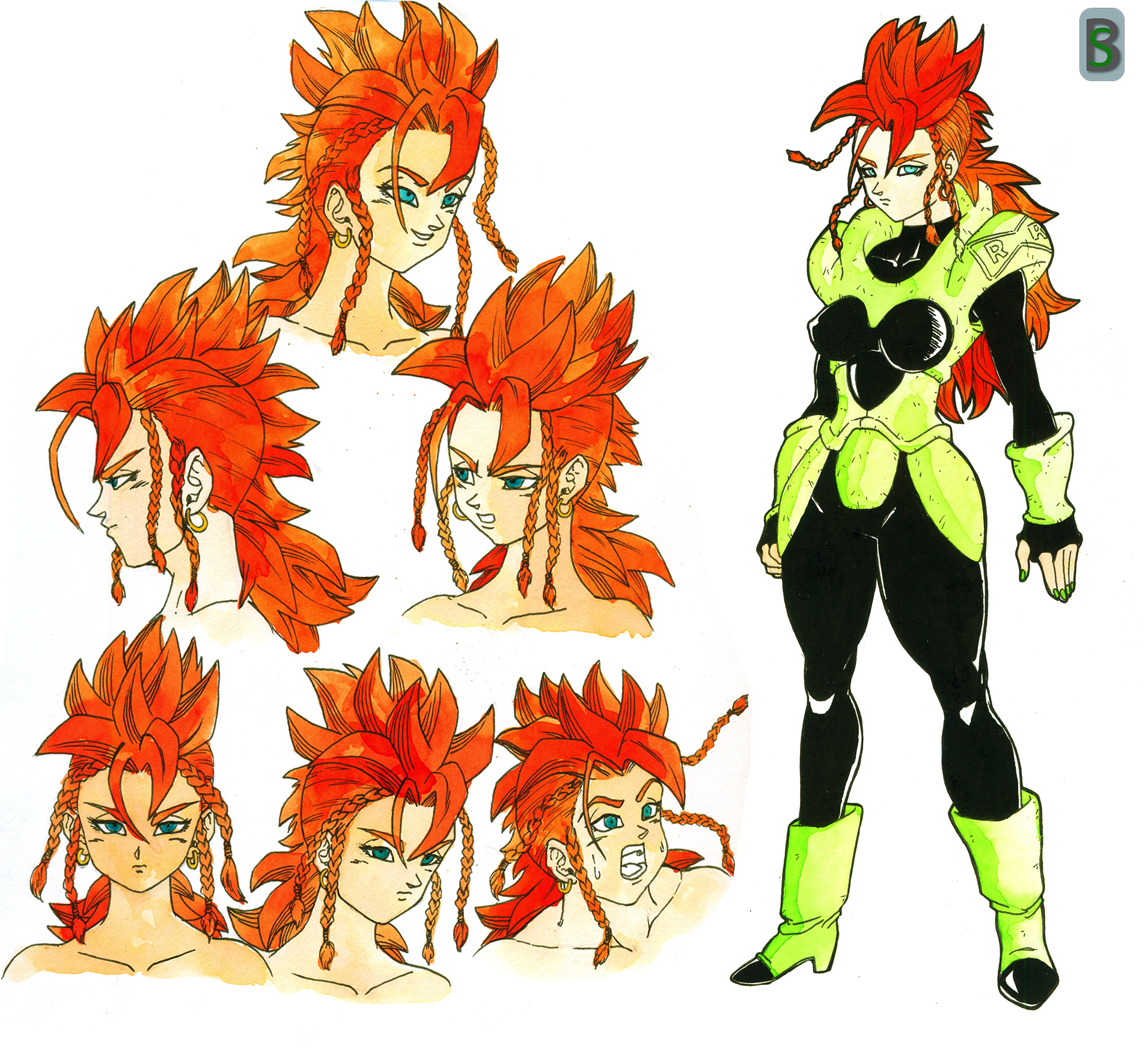 Android 16 female by bloodsplach
