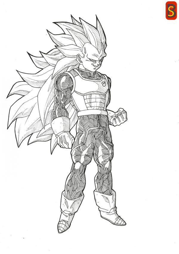 DBS Vegeta ssj3 by bloodsplach