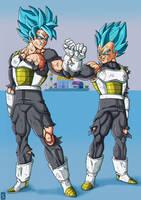 Goku-Vegeta 3Y Training by Blood-Splach