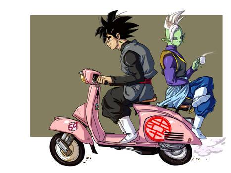 Goku Black and Zamasu Chilling