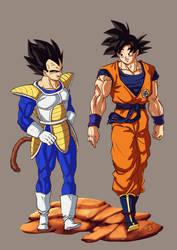 DBfighterz dlc3 Goku, Vegeta by Blood-Splach