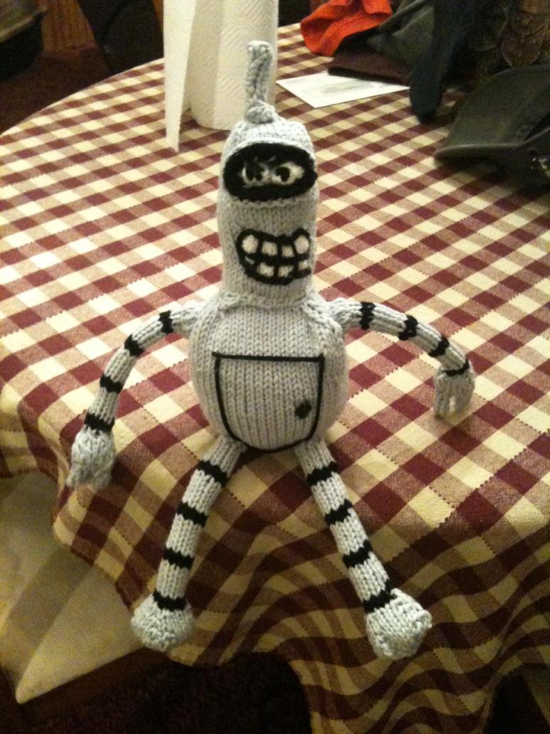 Reddit Knitting Blocking : Knitted bender bending rodriguez by unrulymuse on deviantart