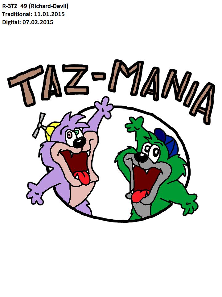 [DIGITAL VERSION] Dizzyn'Richard at Taz-mania logo by Richard-Devil
