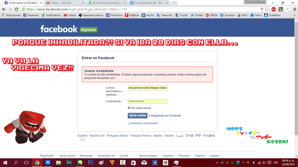 Anger's FB disabled account reaction by Richard-Devil