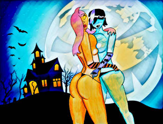 Layla and Tyrus Halloween (PicsArt version) by EliFrost
