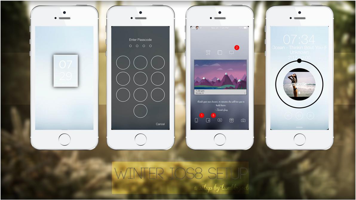 WINTER IOS8 SETUP! by tumblrgod