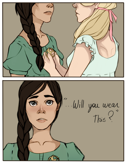 Katniss and Madge by Nani-Mi