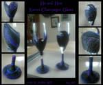 Raven Champagne Glasses