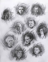 Game of Thrones Characters sketches by AnaviTil