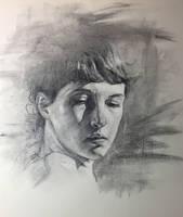 Charcoal Portrait Study, Practice 32 by AnaviTil