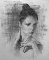 Portrait study in charcoal by AnaviTil