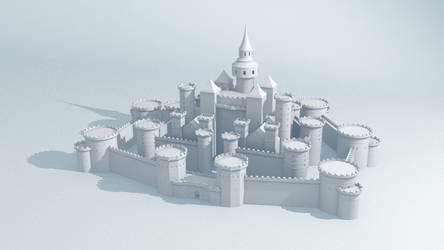 WIP : The Castle by Gnougnou