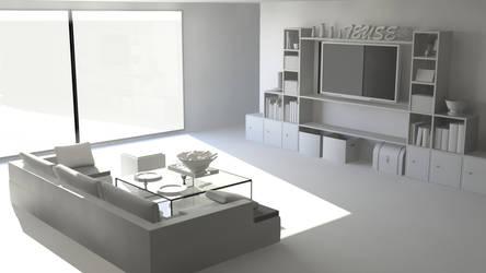 WIP : Living Room by Gnougnou